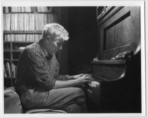 Carl Woese at a Piano